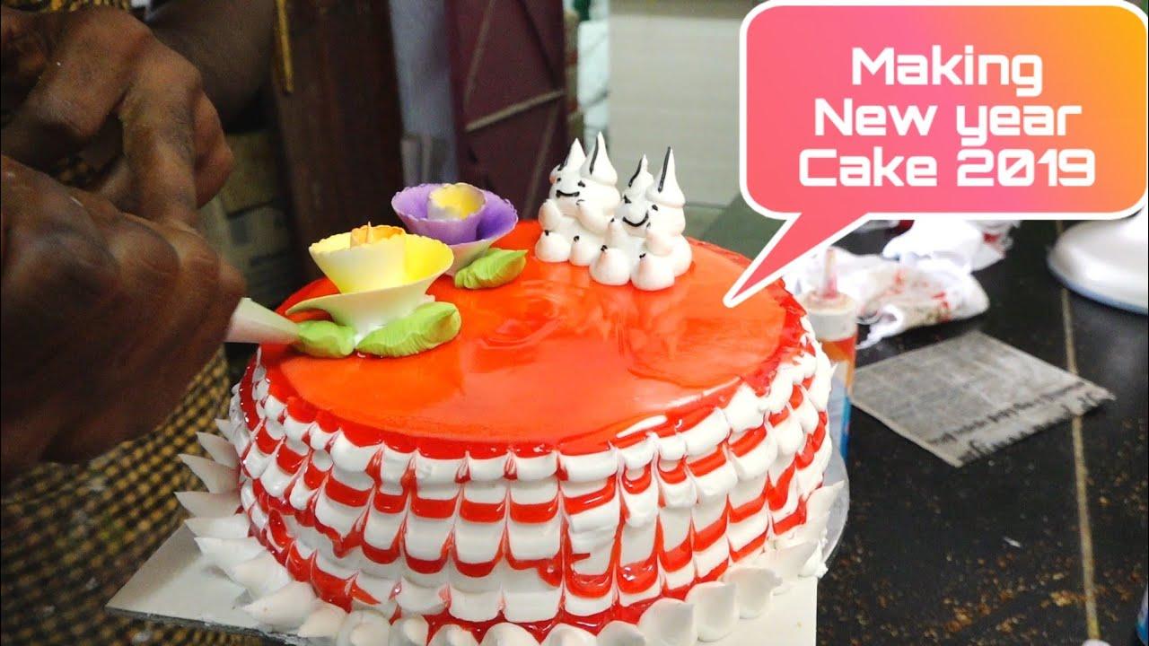 Making New Year Cake 2019 Nandalala Cake Nandalala Sweets And