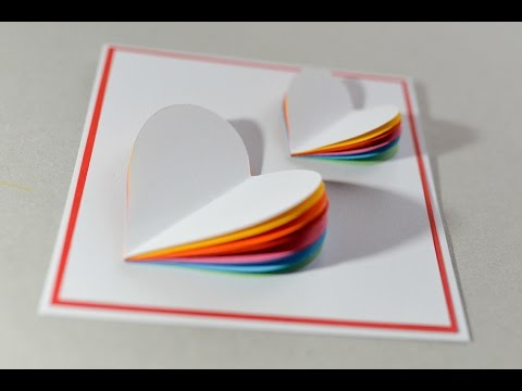 How to make valentines day card rainbow heart greeting card how to make valentines day card rainbow heart greeting card step by step kartka na walentynki m4hsunfo