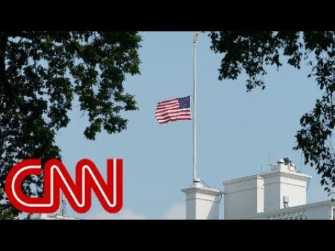 White House lowers flag again for McCain