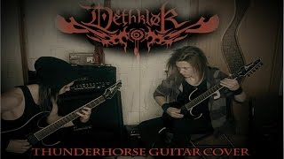 Dethklok Thunderhorse guitar cover (both part
