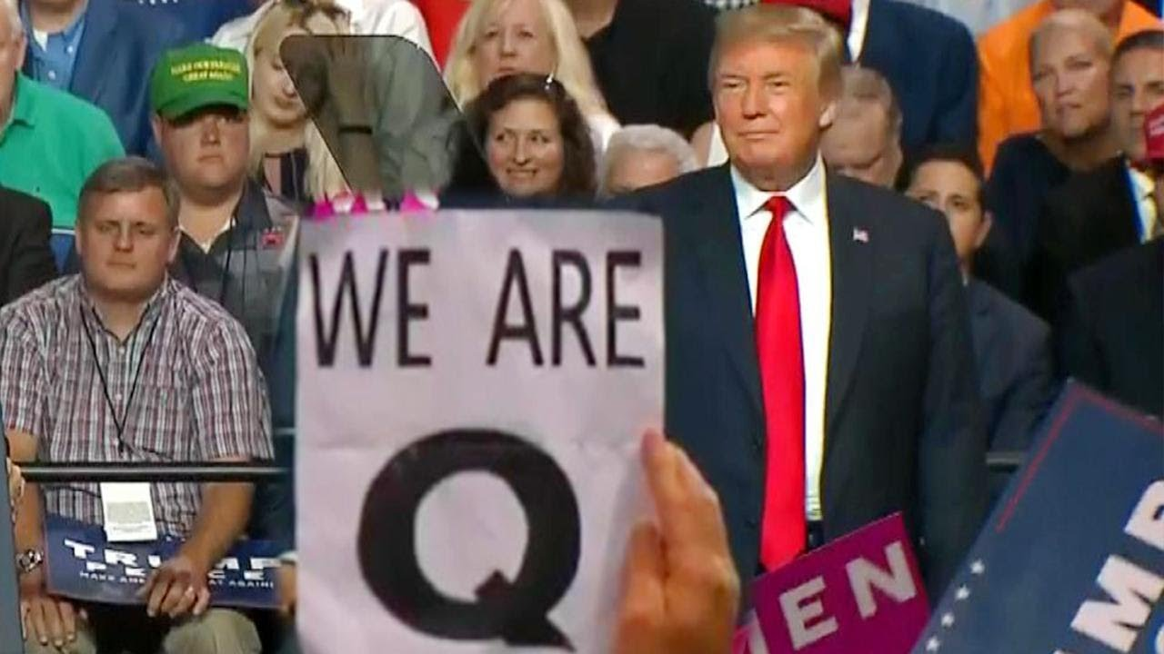 Image result for trump and q
