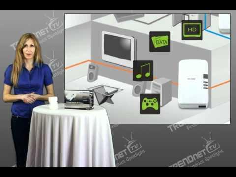 TRENDnet 200Mbps Powerline AV Adapter TPL-303E - Spotlight - YouTube