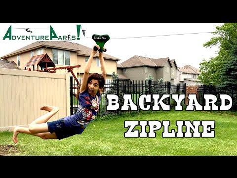 70 foot Backyard ZIPLINE by Adventure Parks | KidToyTesters
