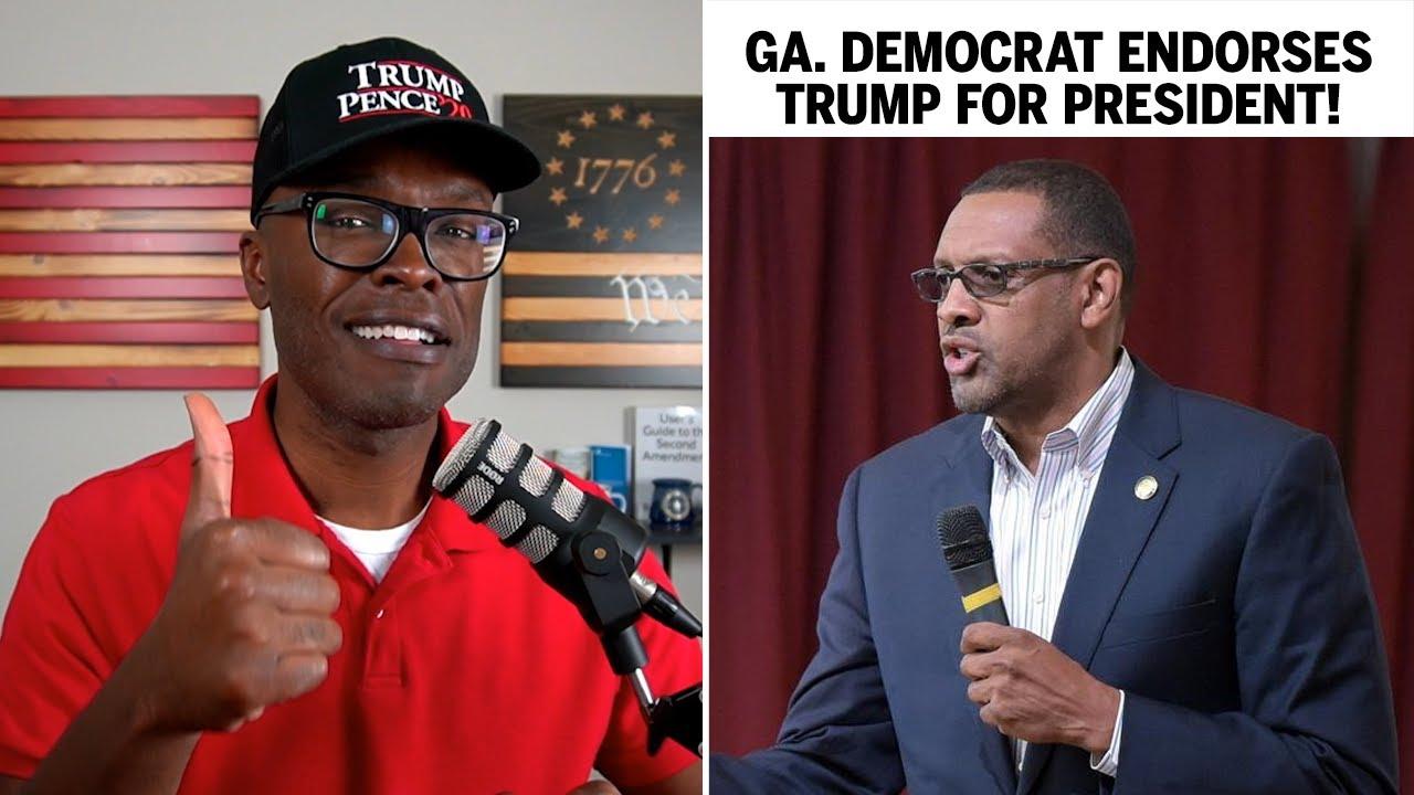 Black DEMOCRATIC Lawmaker From Georgia Endorses TRUMP!