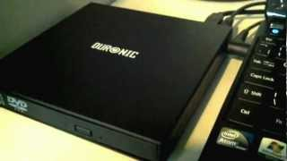 Duronic USB 2.0 Slim Portable Optical Drive Review + Setup