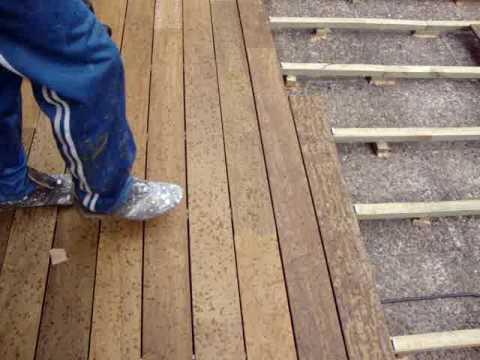 Instalacion de parquets tarimas maderas de exterior - Como instalar suelo radiante ...