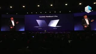 Huawei MWC 2018 - Huawei Matebook X Pro and Huawei MediaPad M5 tablet, Balong 5G01 5G chip