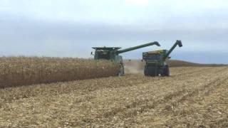 John Deere 9660 STS Combine Harvesting Corn Arthur Illinois