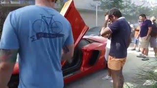 3 Milyon TL'lik Aventador'u Yaktı