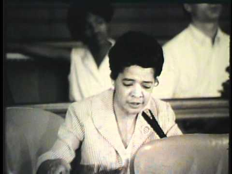 Vel Phillips Advocating Fair Housing Ordinance in Milwaukee, 1967