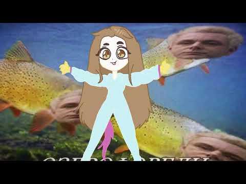 Gift for mori gyaru плавает в озере с форелью  (я не умею рисовать ,хотя ладно ) original meme ?!