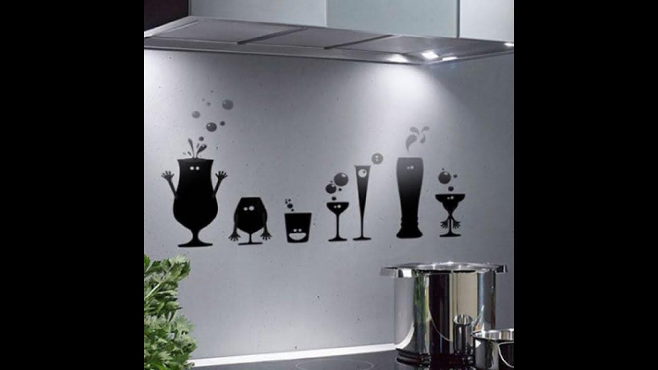 Декор стен своими руками Идеи для кухни - YouTube