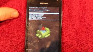 Huawei Ascend Y300 How To Do A Hard Reset/Factory Wipe
