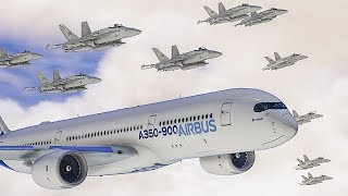 The LARGEST Plane Escort ever... (GTA 5 Flight Simulator Online)