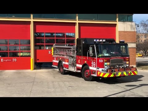 Chicago IL Fire Department Brand New Engine Co. 59 Responding