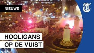 Krankzinnige rellen tussen voetbalfans in Parijs, bekijk hier de beelden