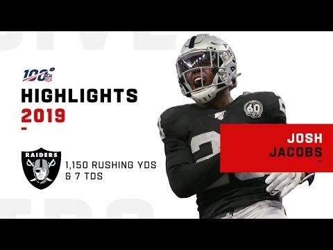 Josh Jacobs Full Rookie Season Highlights | NFL 2019