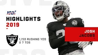 Josh Jacobs Full Rookie Season Highlights