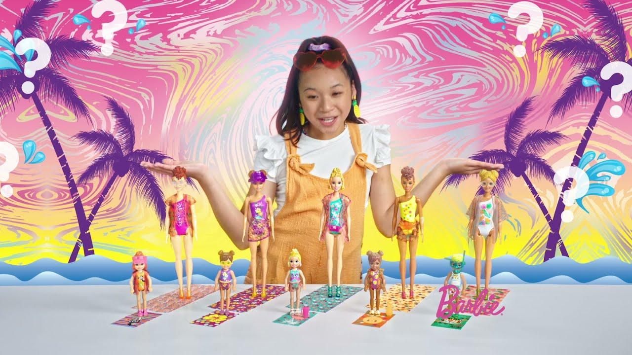 Barbie ve Chealsea Color Reveal Renk Değiştiren Sürpriz Bebekler Yeni Kum ve Güneş Serisi #AD