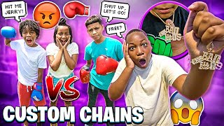 JERRY AND JAKARI HAD A BOXING MATCH🥊  & I GOT EVERYBODY CUSTOM CHAINS!