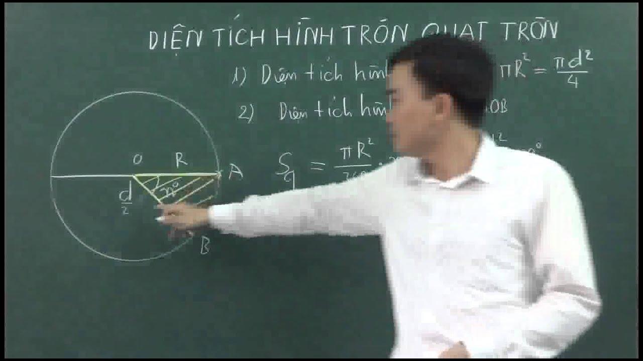 Diện tích hình tròn- Diện tích hình quạt tròn http://goo.gl/g2gslk