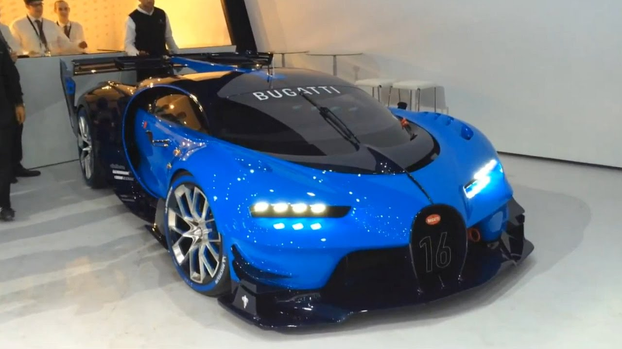 Bugatti Vision GT - real car start up, revving, moving - YouTube