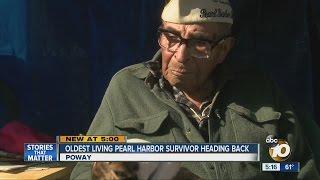 Oldest living Pearl Harbor survivor heading back