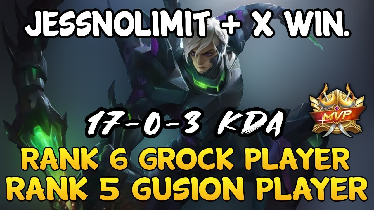 JessNoLimit + Rank 6 Grock = 7 mins GG - Top Global Players - Mobile