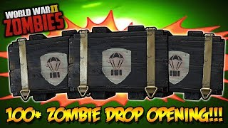 100 ZOMBIES SUPPLY DROP CRATE OPENING Call of Duty WW2 Zombies