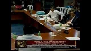 Sen. Kiko Pangilinan Scolds Evasive Resource Person In Rice Smuggling Hearing