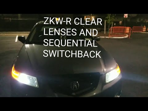ACURA TL ZKW-R CLEAR LENSES AND SEQUENTIAL SWITCHBACKS WALK AROUND