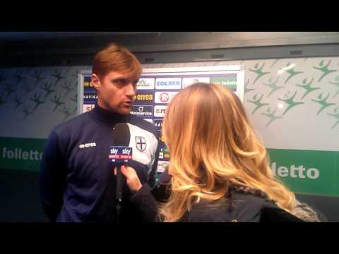 Parma-Clodiense 4-0, Apolloni flash interview Sky