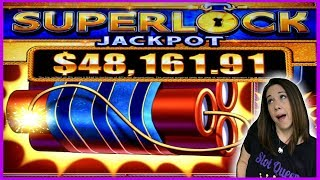 NEW SUPERLOCK JACKPOT ‼️ 💥THIS MACHINE WAS CRAZY HOT 💥