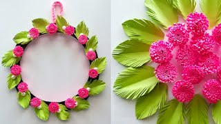 Amazing and beautiful Paper flower wall hanging / Diy paper flower wall hanging