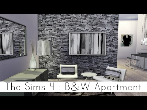 The Sims 4 | City Living | B&W Apartment