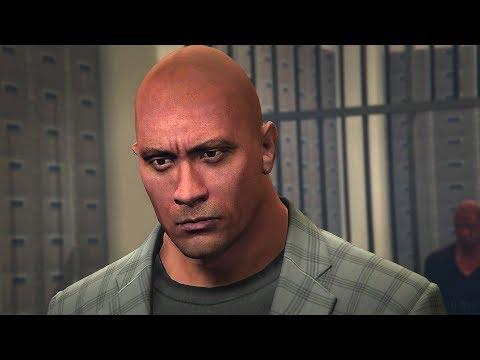 GTA 5 WWE Mods - THE ROCKS BANK ROBBERY SITUATION! (Grand Theft Auto V Mods)