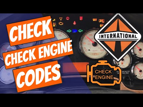 How to See the Check engine codes International Prostar