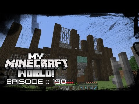 MY MINECRAFT WORLD! | STORAGE HOUSE BUILDING! | Episode 190 (Let's Play 1080p)