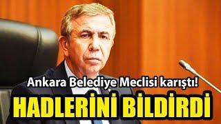 Ankara Belediye Meclisi karıştı! Mansur Yavaş hadl