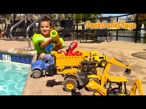 Construction Vehicles Toys For Kids Toy Unboxing Mb