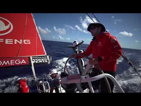 Volvo Ocean Race 2017-18: VNR 24 April, B-roll & IV in French, Pascal Bidégorry, Dongfeng