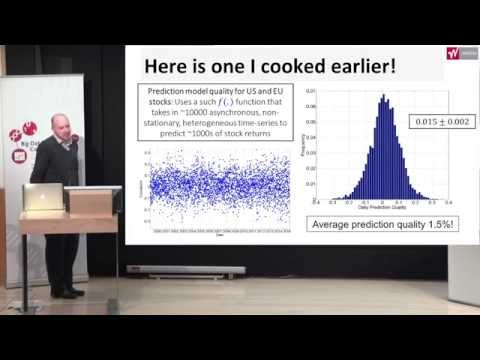 Signal Processing in Financial Applications | Dr Tuncer Aysal | Big Data Analytics Conference 2015