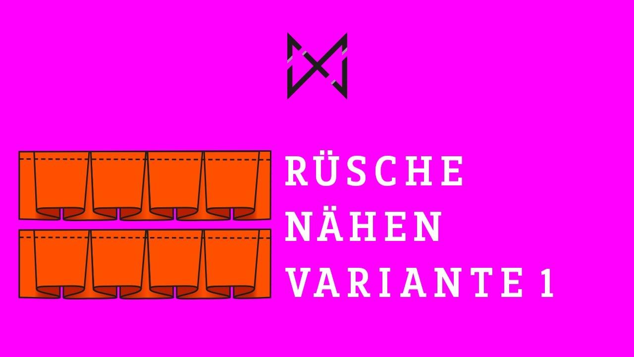 RÜSCHEN NÄHEN DIY (Variante 1) - YouTube
