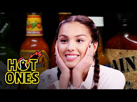 Olivia Rodrigo Burns Her Lips While Eating Spicy Wings   Hot Ones