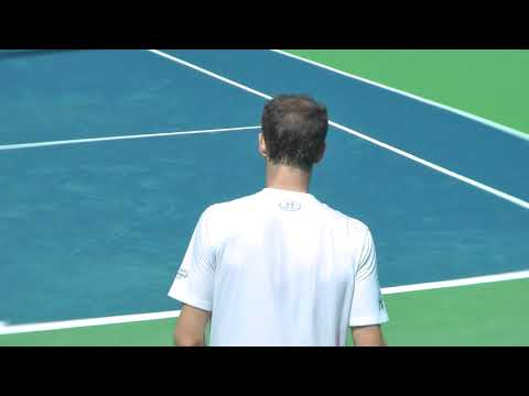 Andy Murray practice with Lucas Pouille at the US Open 2017. (Full HD/60fps)