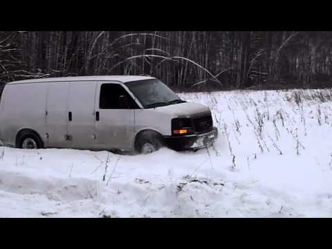 GMC Savana in the deep snow1