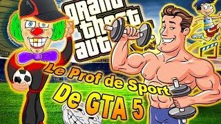 LE PROF DE SPORT DE GTA5 - J'ENTRAÎNE UN MEC POUR QU'IL DEVIENNE MUSCLÉ - TROLL , FUN