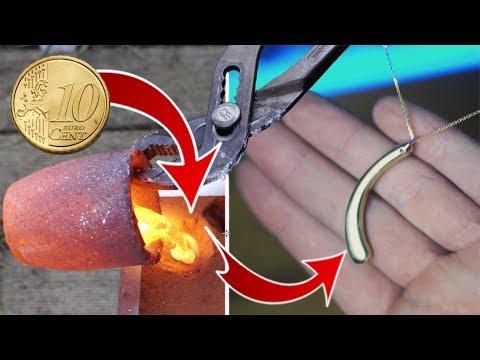 Fondre des pièces de 10 centimes