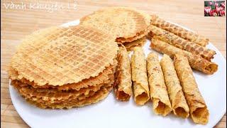 BÁNH TÔM - Cách làm Bánh Tráng Tôm Mè giòn thơm béo béo, mặn mặn, ngọt ngọt, cay cay by Vanh Khuyen