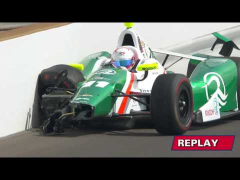 Spencer Pigot Fast Friday Turn 2 Incident